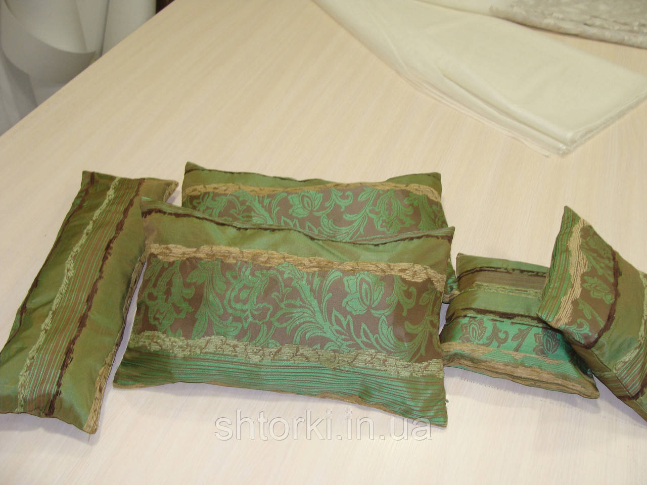 Комплект подушек  Рельеф зелень , 5 шт