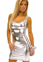 Клубное платье серебряное