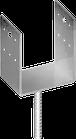 Наконечник колонны U 100x60 прут d=16мм