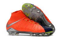 Футбольные бутсы Nike Hypervenom Phantom III DF FG Deep Royal Blue/Chrome/Total Crimson