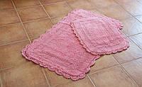 Набор ковриков для ванной 60х100+45х60 Sahra розовый Irya