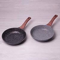 Сковорода из литого алюминия с антипригарным гранитным покрытием 24 см Kamille a4234W