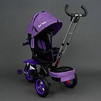 Детский трехколесный велосипед Best Trike 6595 Фиолетовый, надувные колеса , фото 3