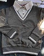 Кофта обманка на мальчика Размеры 116- 176