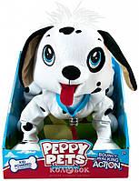 Игрушка Peppy Pets Веселая прогулка - Далматинец, 28 см, ошейник, поводок