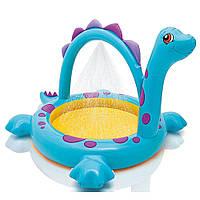 Детский надувной бассейн Intex 57437 «Динозавр» с фонтанчиком
