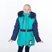 """Зимняя куртка - пальто для девочки """"Ушки"""" , новинки зима 2018"""