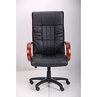 Кресло Консул НВ, кожзам черный (622-B High-Back Black PU+PVC , HL018 Mech) (AMF-ТМ)