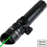 Зеленый лазерный целеуказатель прицел Laser Scope 5mW черный корпус