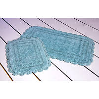Набор ковриков для ванной 60х100+45х60 Sahra голубой Irya