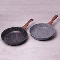 Сковорода из литого алюминия с антипригарным гранитным покрытием 28 см Kamille a4238W
