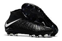 Футбольные бутсы Nike Hypervenom Phantom III DF FG Black/White/Game Blue, фото 1