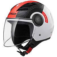 Шлем LS2 OF562 AIRFLOW CONDOR, WHITE BLACK RED, S