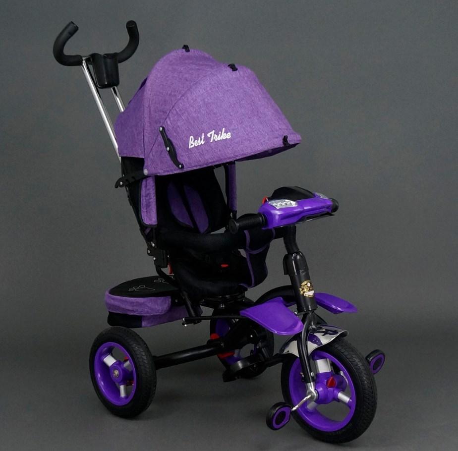 Детский трехколесный велосипед Best Trike 6595 Фиолетовый, надувные колеса