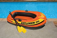 Надувная двухместная лодка Explorer 200 Intex 58330