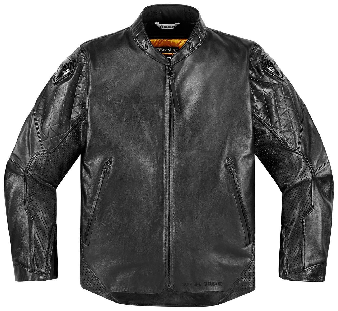 Мотокуртка ICON Retrograde кожа черный 2XL