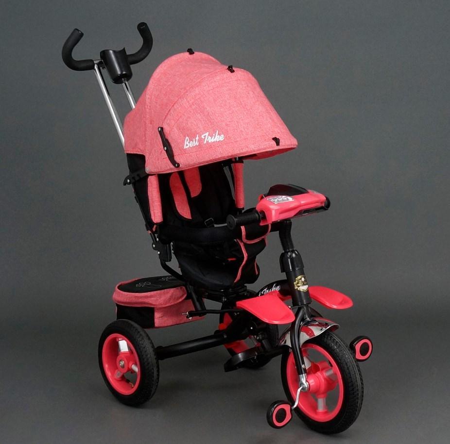 Детский трехколесный велосипед Best Trike 6595 Красный, надувные колеса