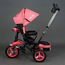 Детский трехколесный велосипед Best Trike 6595 Красный, надувные колеса , фото 3