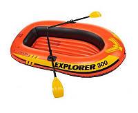 Надувная трехместная лодка Intex 58332 до 185кг.