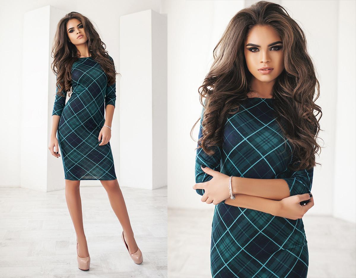 b3717078e97 Женское классическое платье в клетку  продажа