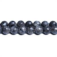 Ларвикит Граненый, Натуральный камень, На нитях, 8 мм, Шар, 48 шт/нить