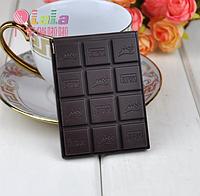 """Зеркальце с расческой """"Плитка шоколада"""" черный шоколад"""