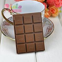 """Зеркальце с расческой """"Плитка шоколада"""" молочный шоколад"""