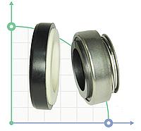 Торцевое механическое уплотнение для насоса BS301-19/NBR/SS304