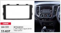 Переходная рамка Mitsubishi L 200, Pajero Sport, Triton 2015+ CARAV 11-637