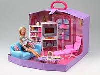 """Мебель для кукол Gloria """"Гостинная с куклой в чемодане"""" (2014HB)"""