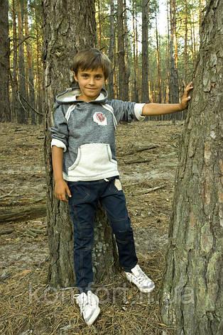 Брюки для мальчика джинсового типа (синий), фото 2