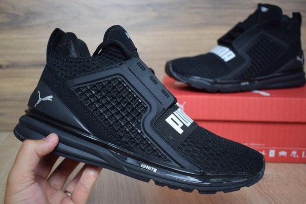 92dbd528 Мужские беговые кроссовки PUMA IGNITE black реплика + живые фото ...