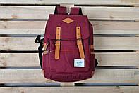 Стильный Бордовый рюкзак Herschel хершель