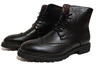 Мужские ботинки Oxford - black, материал - кожа, подошва - резина, полиуретан