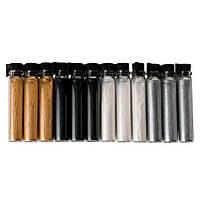 Набор микро-песка в колбах 4 цвета, 12 шт