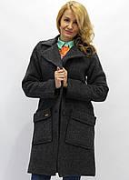 Пальто Марсель серый в полоску