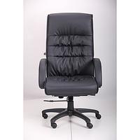 Кресло Орхидея НВ, кожзам черный (643-B HI-BACK BLACK PU+PVC HL014 MECH) (AMF-ТМ)