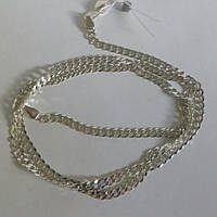 Цепь серебряная, панцерка, 600 мм, 8.40 грамм