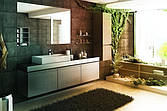 Аксессуары для ванной комнаты и туалета.