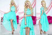 Платье вечернее №3408Р (р-р.42-46) Ткань: гипюр+шифон+атлас+фатин. Цвета в ассортименте