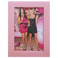 Деревянная рамка для фотографий 10х15 (розовый)