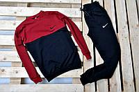 Молодежный спортивный костюм найк (Nike) красный с черным