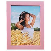 Деревянная рамка для фотографий 15х21 (розовый)
