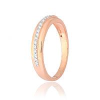 """Позолоченное серебряное кольцо с камнями """"211"""""""