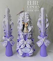 """Весільні свічки іменні """"Фіалка"""""""