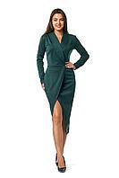 Платье Ариэла 0276_3 Тёмно-зелёное
