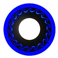 Cветильник светодиодный  двухцветный TWO COLOR PANEL 3+3Вт  белый + синий