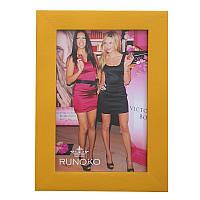 Деревянная рамка для фотографий 10х15 (золото)