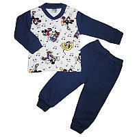Пижама для мальчика трикотаж 1-4года(110-128)