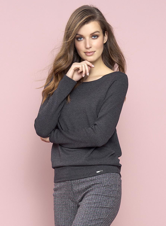 Женская трикотажная блуза Eris Zaps сливового цвета. Коллекция осень-зима.